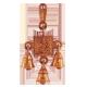 GANESHA MOVIL TRES CAMPANAS BRONCE (REF 11986)