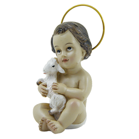 NIÑO JESUS CON OVEJA 9CM (REF 16/111)