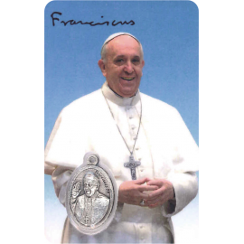 ESTAMPA MEDA OVAL PAPA FRANCISCO