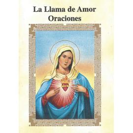 LIBRITO ORACIONES LA LLAMA DE AMOR 7X5 CM