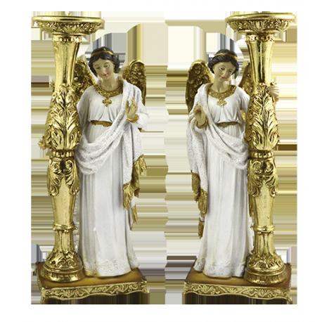 VELERO ANGEL DE PIE BLANCO 15CM (REF 16/264)