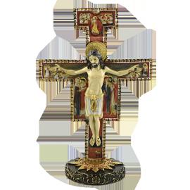 FIGURA JESUS EN CRUZ BIZANTINA 15 CM. (REF 02/116)