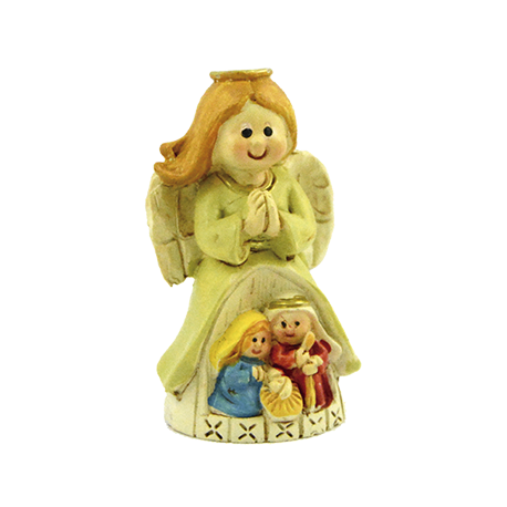 IMAGEN SAGRADA FAMILIA INFANTIL CON ANGEL PROTECTOR 6X4CM APROX
