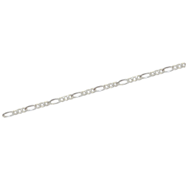 CADENA PLATA FIGARO 80X50 HUECA REF36078