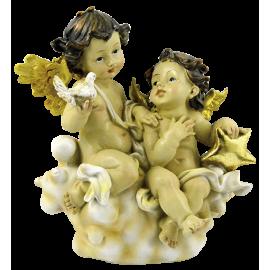 FIGURA DOS ANGELES EN NUBE 22CM APROX REF 16379