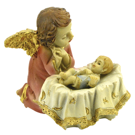 ANGEL DE LA GUARDA CON NIÑO 5CM REF 07318