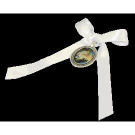 MEDALLA CUNA ANGEL GUARDA BLANCO 4cm APROX