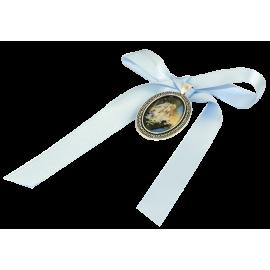 MEDALLA CUNA ANGEL GUARDA AZUL 4cm APROX