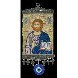 ICONO CRISTO C/OJO TURCO 43X15 CM (OT-0164/01)