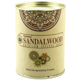 INCIENSO CONO REFLUJO GOLOKA NATURES SANDALWOOD INC497