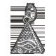 EGIPCIO PIRAMIDE OJO DE HORUS 1,5 CM