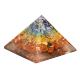 ORGON PIRAMIDE MULTICOLOR MEDIANA 7CM X 7CM X 6CM