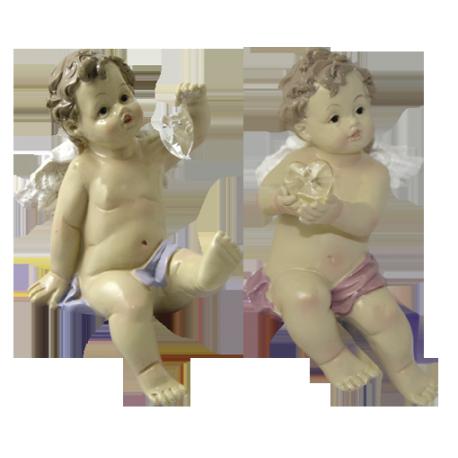 ANGEL PORCELANA SENTADO 12CM (REF 3372136)