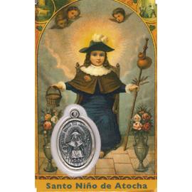 ESTAMPA MEDA NIÑO DE ATOCHA