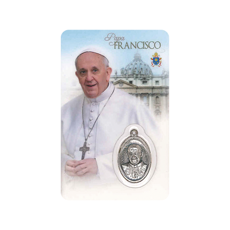 ESTAMPA MEDA PAPA FRANCISCO
