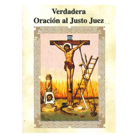 LIBRITO ORACIONES DEL JUSTO JUEZ 7X5 CM