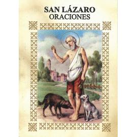 LIBRITO ORACIONES LAZARO 7X5 CM