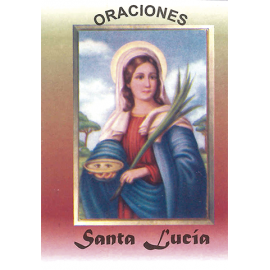 LIBRITO ORACIONES LUCIA 7X5 CM