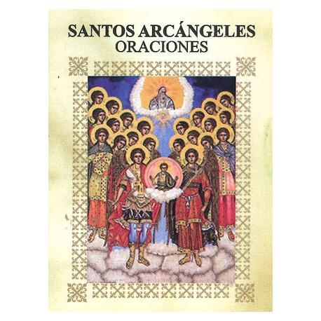 LIBRITO ORACIONES SANTOS ARCANGELES 7X5 CM